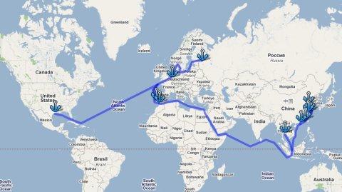 Карта морских перевозок